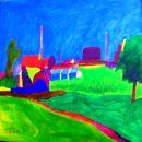 Violette Landschaft